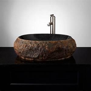 Ridge, Natural, Stone, Vessel, Sink, -, Vessel, Sinks, -, Bathroom, Sinks