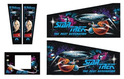 Virtual Pinball Cabinet Flat Pack by Cabinet Decals Star Trek The Next Generation Ppa Sttng
