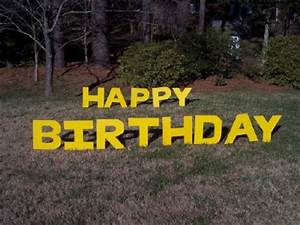 va lawn greetings va yard cards virginia birthday signs With happy birthday lawn letters