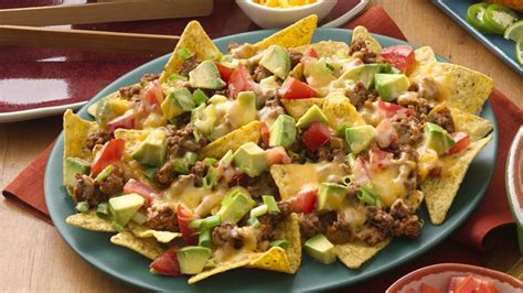 nacho recipe easy beef nachos recipe bettycrocker com