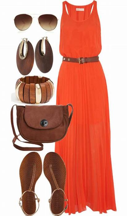 Polyvore Maxi Combos Summer Styling Dresses