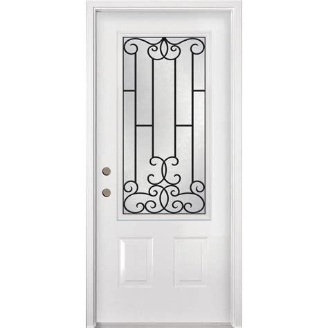steel door lowes tru tech tuscan inswing steel entry door lowe s canada