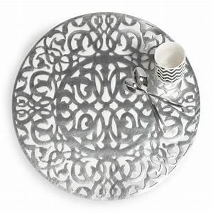 Set De Table Argenté : set de table ajour rond argent d 38 cm lasalle maisons du monde ~ Teatrodelosmanantiales.com Idées de Décoration