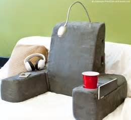 Bed Rest Pillow with Reading Light
