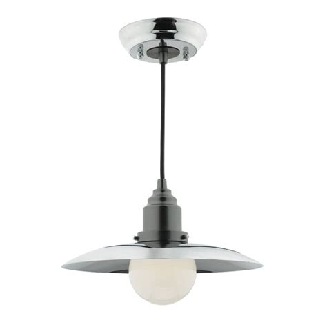 insulated ceiling pendant in retro style chrome