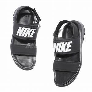 Wmns Nike Tanjun Sandal Black White Womens Fashion Sandals