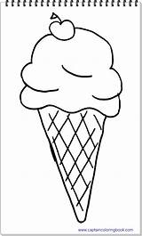 Ice Coloring Cream Drawing Pdf sketch template
