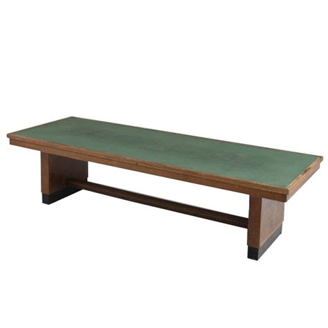 large green table l large dining table in oak with green top for sale at 1stdibs