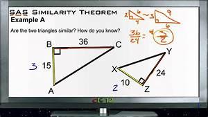 SAS Similarity Theorem: Examples (Basic Geometry Concepts ...