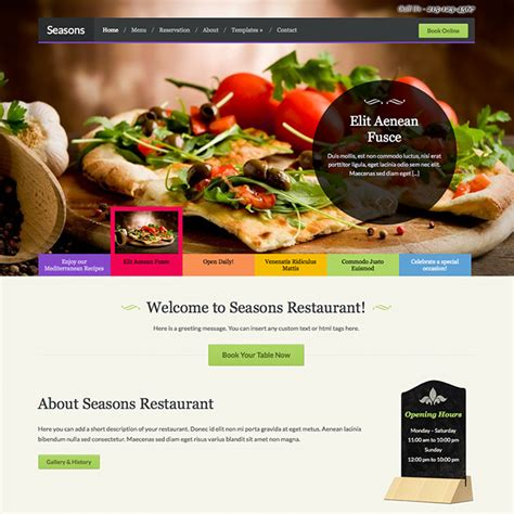 Wp Restaurant Themes Seasons Restaurant Theme Wpexplorer