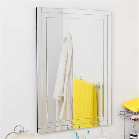 mirror outlet luxford frameless mirror leekes