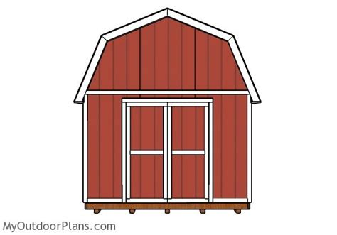 12x20 gambrel shed plans myoutdoorplans free