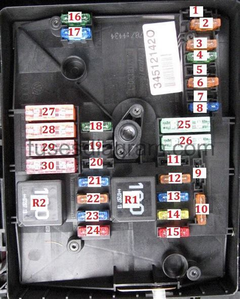 2006 Gti Fuse Box Location by Fuse Box Volkswagen Golf Mk5