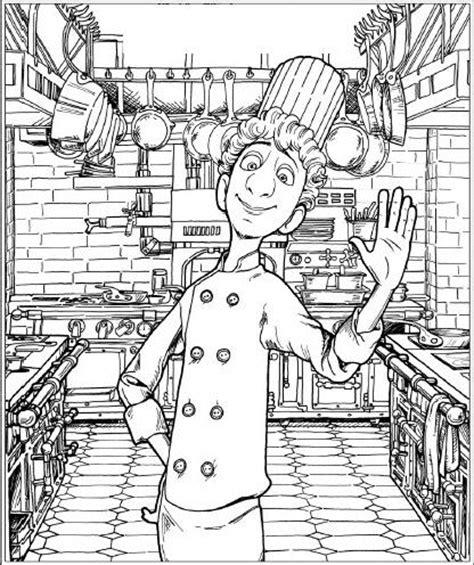 dessin animé de cuisine dessins de ratatouille à colorier