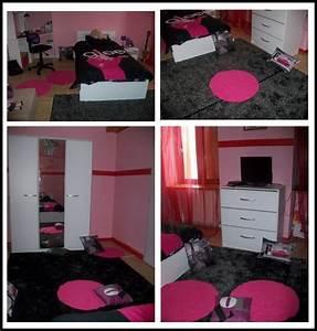 deco chambre adulte rose et noir With chambre baroque noir et rose