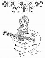 Singer Coloring Pages sketch template