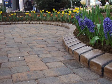 patio paver edging paver patio with a better edge edging flickr photo