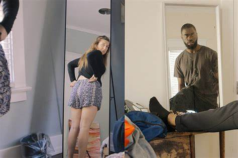 Two Model Give In To Their Lust Living Room The Tennis Court