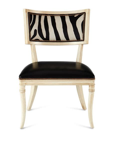 zebra dining chairs massoud black zebra leather dining chair