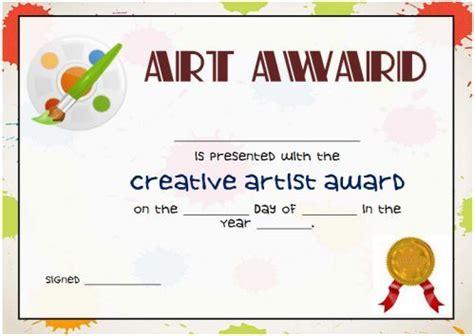 art award certificate template art certificate templates