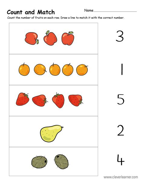 Count Match Numbers Worksheets Homeshealthinfo