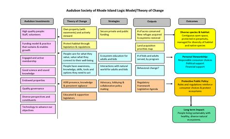 theory of change template i logic models cause and effect
