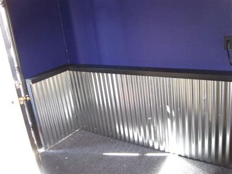 Tin Wainscoting Panels by How To Adding A Corrugated Metal Quot Wainscoting Type Quot Wall