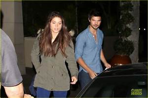 Taylor Lautner & Marie Avgeropoulos: L'Ermitage Dinner ...