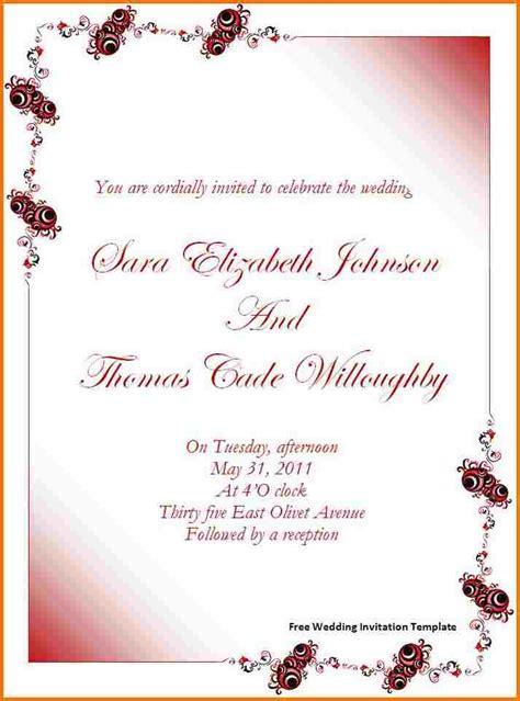 Free wedding invitation templates for word Authorization
