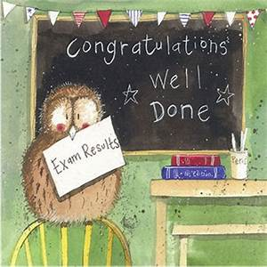 Congratulations Well Done Exam Results Card