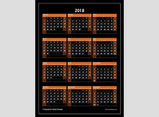 2018 calendrier 2019 2018 Calendar Printable with