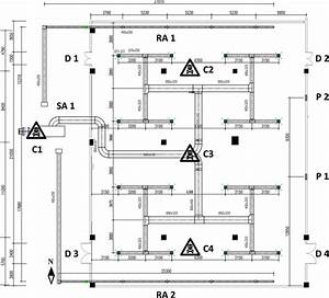 Plane Layout For The Room Space And Its Ventilation System