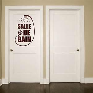 sticker design salle de bain pommeau de douche stickers With carrelage adhesif salle de bain avec pommeau douche led