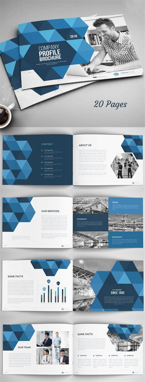 Pages Template Brochure 25 Best Ideas About Company Profile On