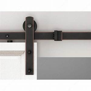 zen glide brushed oil bronze single barn door hardware With barn door pulls oil rubbed bronze
