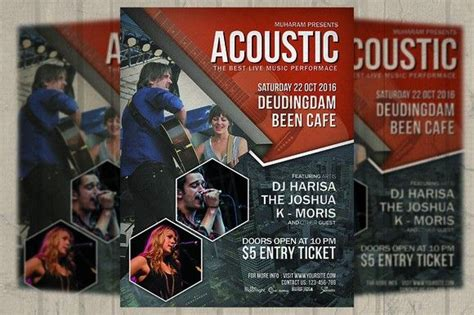 acoustic event flyer poster event flyer poster