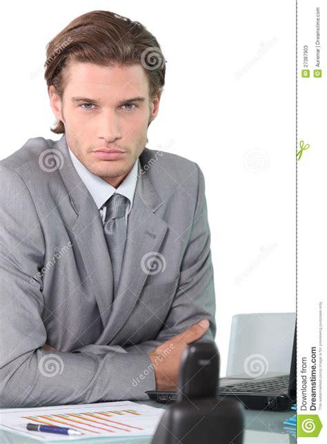 bureau homme d affaire businessman at his desk stock photos image 27387903