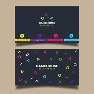 Business card for a video game business vector free download for Video game business cards
