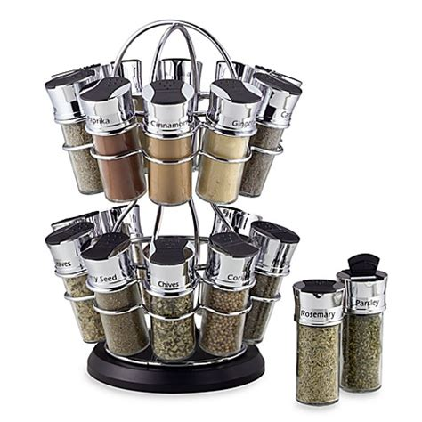 Olde Thompson Spice Rack 20 Jars buy olde thompson 20 jar spice rack in flower style from