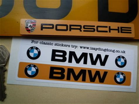 Bmw Number by Bmw Number Plate Dealer Logo Cover Stickers 5 5 Quot Pair
