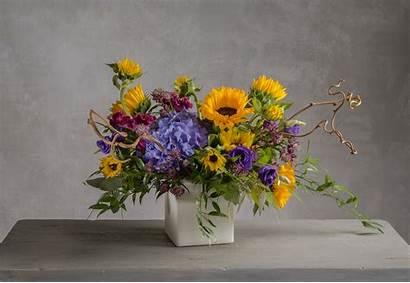 Fresh Flower Arrangement Bright Summer Flowers Blooms