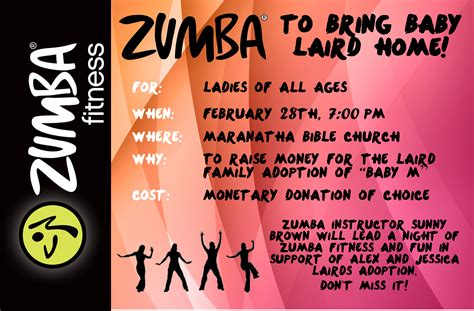 Zumba Flyer Template Free Choice Image Template Design Free Download