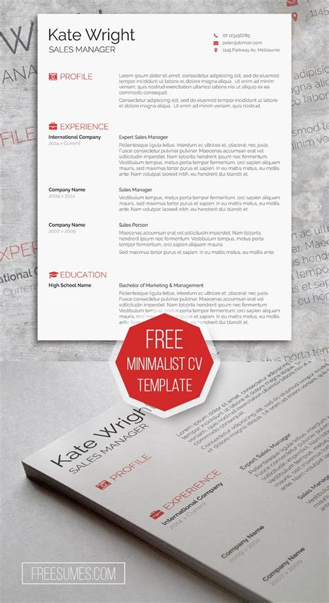 25 best ideas about cv template on creative
