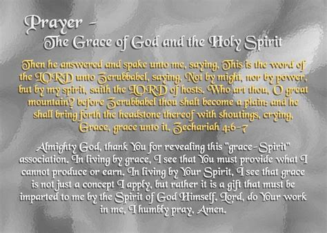 the holy spirit prayer the grace of god and the holy spirit daily