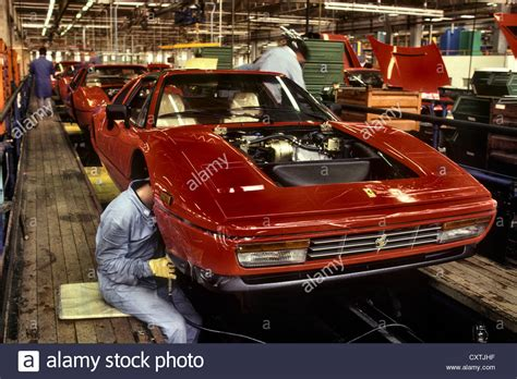 ferrari factory ferrari factory in maranello italy 1987 328 assembly line
