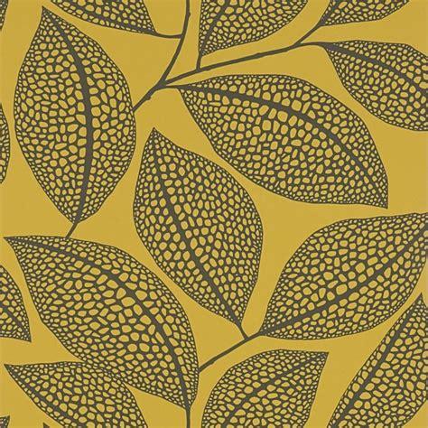 pebble leaf yellow wallpaper missprint pebble leaf yellow