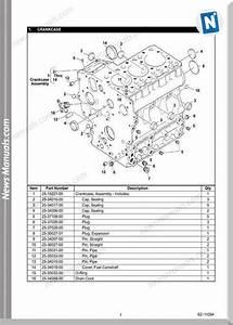 Carrier Ct3 44 Tv D722 Diesel Engine Service Parts List
