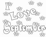 September Coloring 11th Colouring Bestcoloringpagesforkids Colors Adult Fall Leaves Sept Flower Hearts Template sketch template