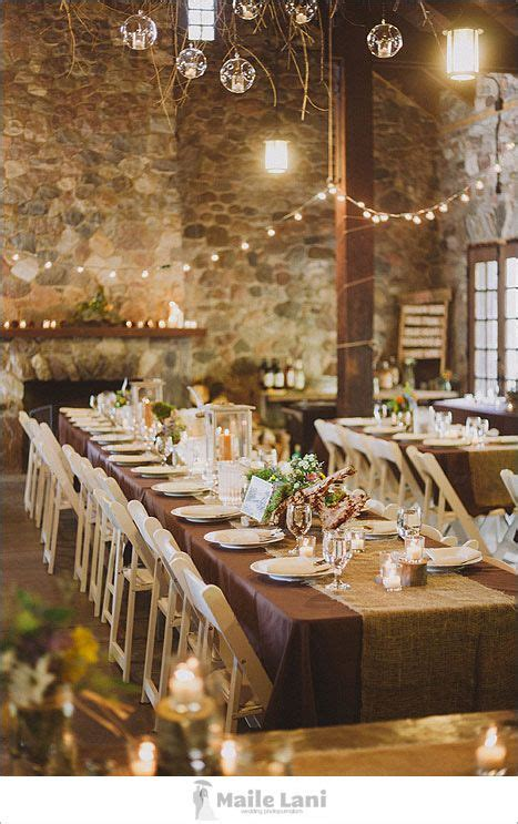 rustic table linens for weddings rustic wedding decor i like this rustic look june 21