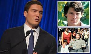 christopher reeve s look alike 22 year old son joins espn